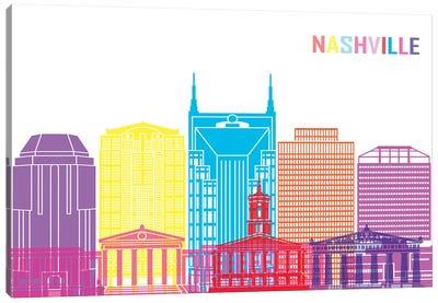 Nashville II Skyline Pop Canvas Art Print
