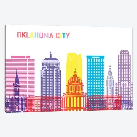 Oklahoma City II Skyline Pop Canvas Print #PUR2466} by Paul Rommer Canvas Print