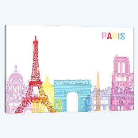 Paris Skyline Pop Canvas Print #PUR2475} by Paul Rommer Canvas Wall Art