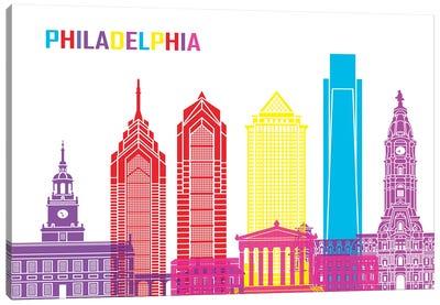 Philadelphia Skyline Pop Canvas Art Print