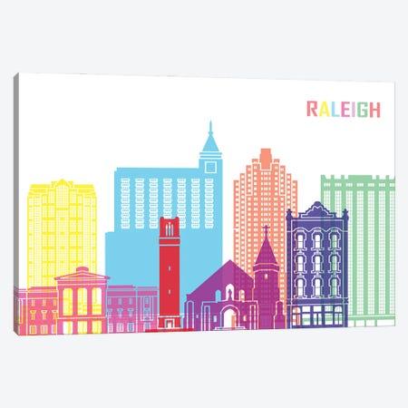 Raleigh II Skyline Pop Canvas Print #PUR2493} by Paul Rommer Canvas Art Print