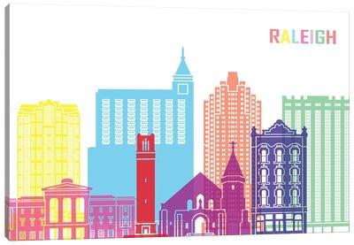 Raleigh II Skyline Pop Canvas Art Print