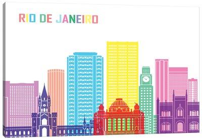 Rio De Janeiro II Skyline Pop Canvas Art Print
