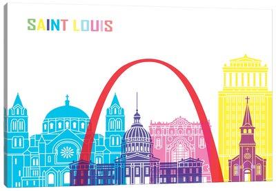 Saint Louis Skyline Pop Canvas Art Print