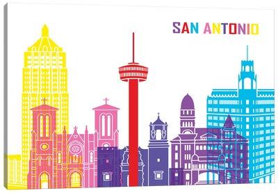 San Antonio Skyline Pop Canvas Art Print