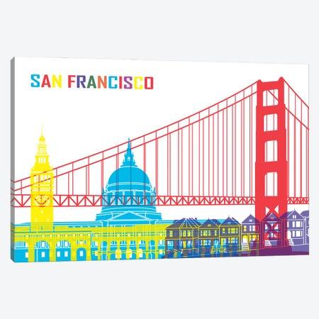 San Francisco Skyline Pop Canvas Print #PUR2515} by Paul Rommer Canvas Art Print