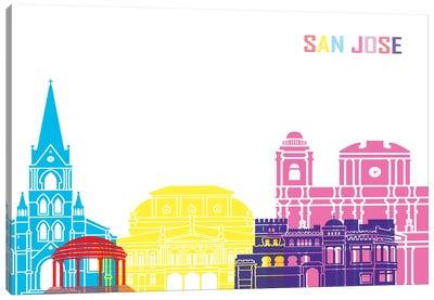 San Jose Cr Skyline Pop Canvas Art Print