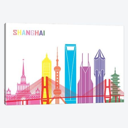Shanghai II Skyline Pop Canvas Print #PUR2523} by Paul Rommer Canvas Art Print