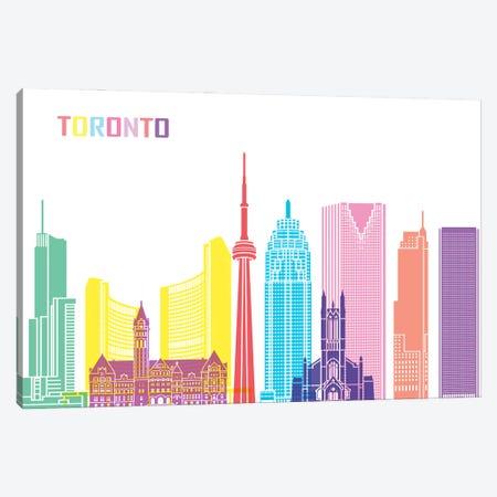 Toronto Skyline Pop Canvas Print #PUR2544} by Paul Rommer Canvas Wall Art