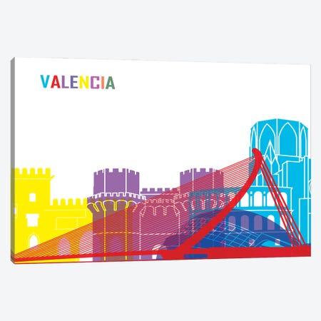 Valencia Skyline Pop Canvas Print #PUR2553} by Paul Rommer Canvas Wall Art