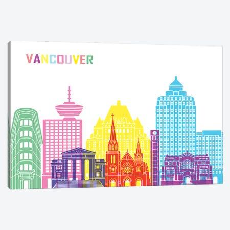 Vancouver II Skyline Pop Canvas Print #PUR2556} by Paul Rommer Canvas Art Print