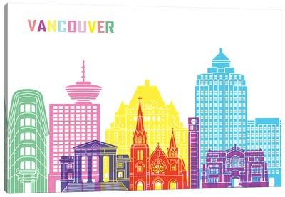 Vancouver II Skyline Pop Canvas Art Print