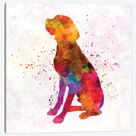 French Pointer In Watercolor Canvas Print #PUR263} by Paul Rommer Canvas Wall Art