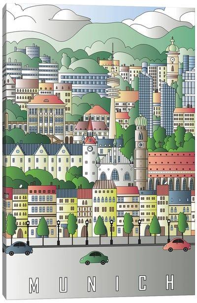 Munich City Poster Canvas Art Print