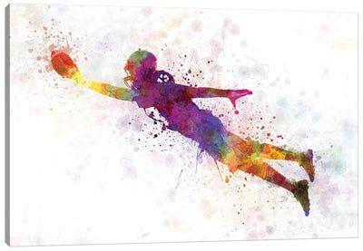 American Football Player Scoring Touchdown II Canvas Art Print