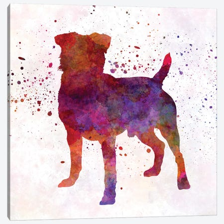 German Hunting Terrier In Watercolor Canvas Print #PUR277} by Paul Rommer Canvas Art