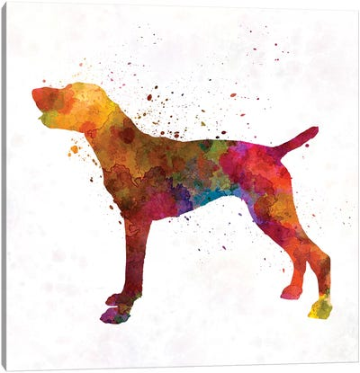 German Shorthaired Pointer In Watercolor Canvas Art Print