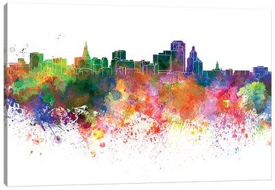 Hartford Skyline In Watercolor V-II Canvas Art Print