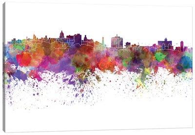 Havana Skyline In Watercolor V-II Canvas Art Print