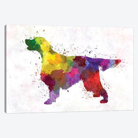Gordon Setter In Watercolor Canvas Print #PUR296} by Paul Rommer Canvas Wall Art