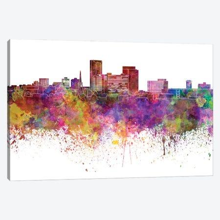 Lexington Skyline In Watercolor Canvas Print #PUR3002} by Paul Rommer Canvas Print