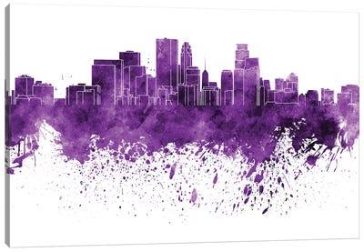 Minneapolis Skyline In Lilac Canvas Art Print