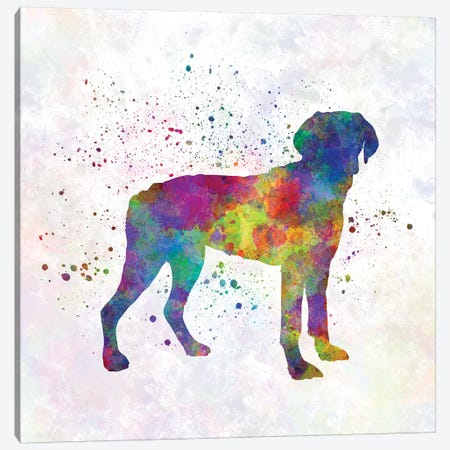 Halden Hound In Watercolor Canvas Print #PUR313} by Paul Rommer Canvas Art