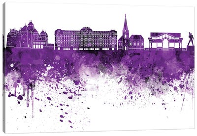 Montreux Skyline In Lilac Canvas Art Print