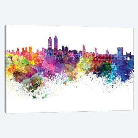 Mumbai Skyline In Watercolor Canvas Print #PUR3151} by Paul Rommer Art Print
