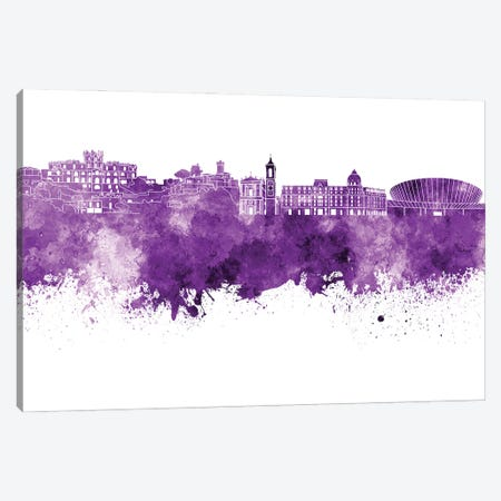 Nice Skyline In Lilac Canvas Print #PUR3201} by Paul Rommer Canvas Art Print