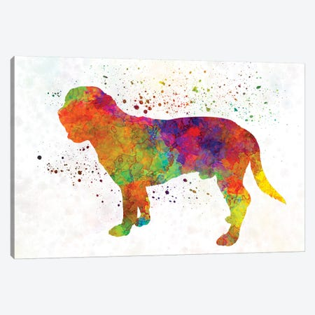 Hanoverian Scenthound In Watercolor Canvas Print #PUR320} by Paul Rommer Canvas Print