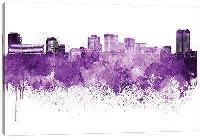 Norfolk Skyline In Lilac Canvas Art Print