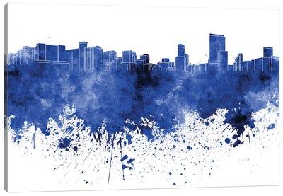 Orlando Skyline In Blue Canvas Art Print