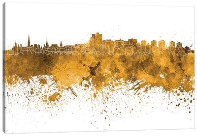 Ottawa Skyline In Orange Canvas Art Print