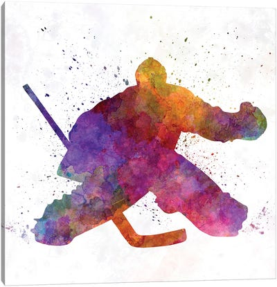 Hockey Goalkeeper Canvas Art Print