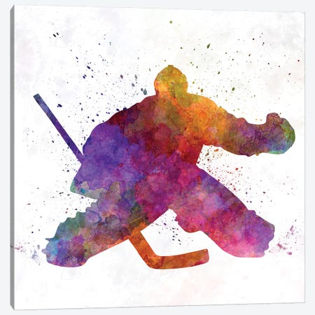 Hockey Goalkeeper Canvas Print #PUR332} by Paul Rommer Canvas Artwork