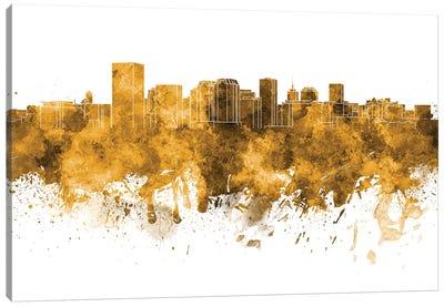 Richmond Skyline In Orange Canvas Art Print