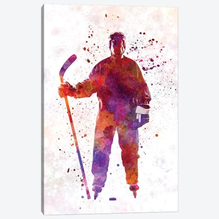 Hockey Skater I Canvas Print #PUR333} by Paul Rommer Canvas Wall Art