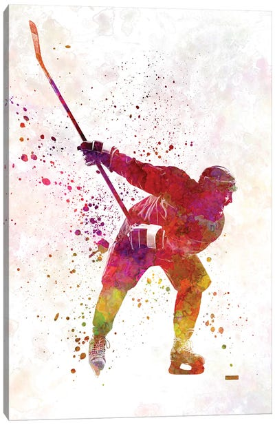 Hockey Skater II Canvas Art Print