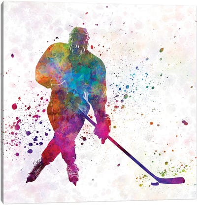 Hockey Skater III Canvas Art Print