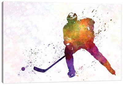 Hockey Skater V Canvas Art Print