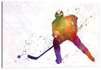 Hockey Skater V Canvas Art Print