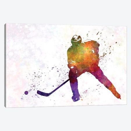 Hockey Skater V Canvas Print #PUR337} by Paul Rommer Canvas Print