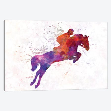 Horse Show I Canvas Print #PUR344} by Paul Rommer Canvas Artwork