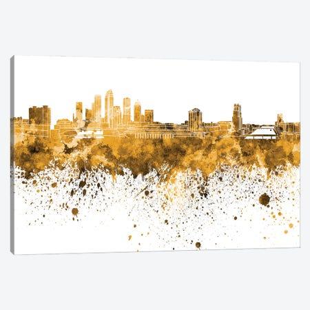 Tampa Skyline In Orange Canvas Print #PUR3469} by Paul Rommer Art Print
