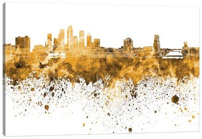 Tampa Skyline In Orange Canvas Art Print