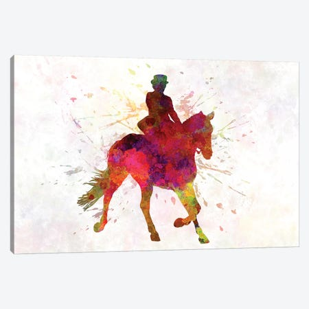 Horse Show III Canvas Print #PUR346} by Paul Rommer Canvas Art