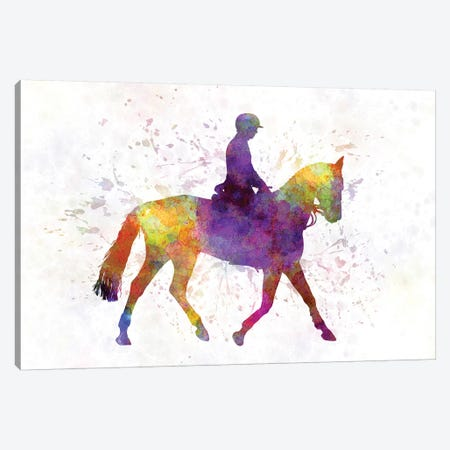 Horse Show IV Canvas Print #PUR347} by Paul Rommer Canvas Artwork