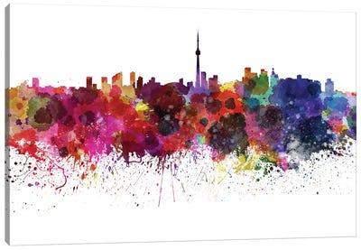 Toronto Skyline In Watercolor Canvas Art Print