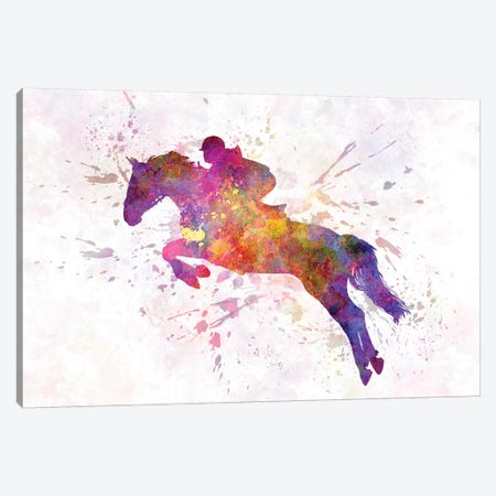 Horse Show VII Canvas Print #PUR350} by Paul Rommer Canvas Artwork